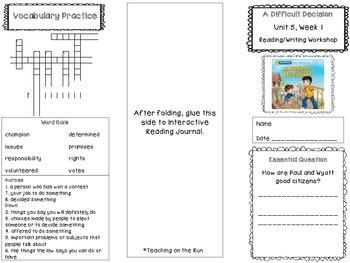 2nd Grade Reading Wonders Trifold - Unit 5, Week 1