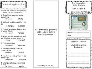 2nd Grade Reading Wonders Trifold - Unit 5, Week 3