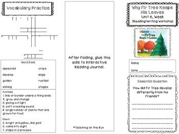 2nd Grade Reading Wonders Trifold - Unit 6, Week 1