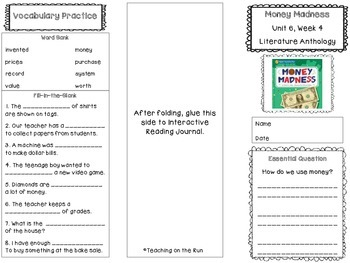 2nd Grade Reading Wonders Trifold - Unit 6, Week 4
