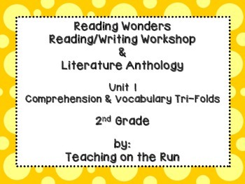 2nd Grade Reading Wonders Trifolds - Unit 1 - All Stories/Texts