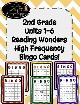 2nd Grade Reading Wonders Unit 1-6 COMPLETE SET High Frequency BINGO!
