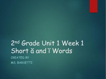 2nd Grade Reading Wonders Unit 1 Week 1 Phonics Slide Show