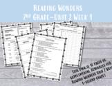 2nd Grade Reading Wonders Unit 2 Week 1 Resources