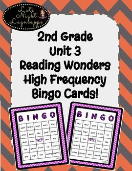 2nd Grade Reading Wonders Unit 3 High Frequency BINGO!