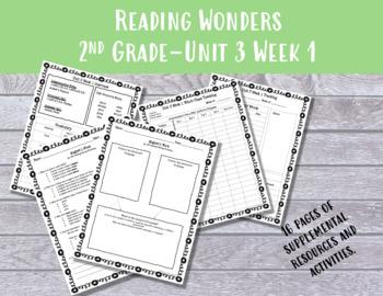 2nd Grade Reading Wonders Unit 3 Week 1 Resources