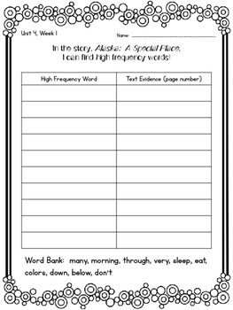 2nd Grade Reading Wonders Unit 4 Week 1 Guided Reading & Analytical Writing Pack