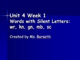 Phonics Slide Show Bundle for Use with 2nd Grade Wonders Unit 4 Weeks 1-5