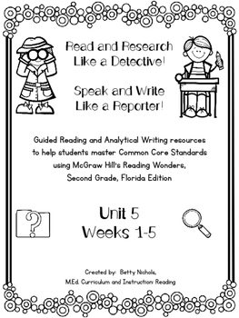 2nd Grade Reading Wonders Unit 5 COMBO Resource Pack