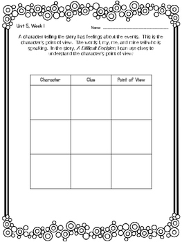 2nd Grade Reading Wonders Unit 5 Week 1 Guided Reading & Analytical Writing Pack