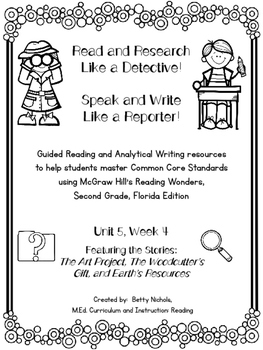 2nd Grade Reading Wonders Unit 5 Week 4 Guided Reading & Analytical Writing Pack