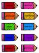 2nd Grade Reading Wonders Unit 5 Week 5 HFW Pencil Pairs