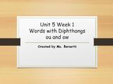 Phonics Slide Show Bundle for Use with 2nd Grade Wonders Unit 5 Weeks 1-5