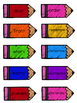 2nd Grade Reading Wonders Unit 6 HFW Pencil Pairs Combo Pack