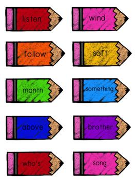 2nd Grade Reading Wonders Unit 6 Week 3 HFW Pencil Pairs