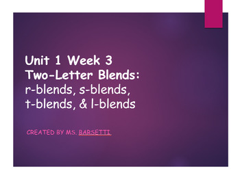 2nd Grade Reading Wonders Unit1 Weeks 1-5 Phonics Slide Shows Bundle