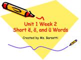 Phonics Slide Shows Bundle for Use with 2nd Grade Wonders Unit 1 Weeks 1-5