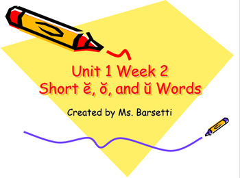 Phonics Slide Shows Bundle for Use with 2nd Grade Wonders Unit 1 Weeks 1-5