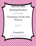 2nd Grade Reading Wonders Vocabulary Cards with Definitions and Pictures Unit 5