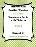2nd Grade Reading Wonders Vocabulary Cards with Definitions and pictures unit 3