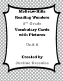 2nd Grade Reading Wonders Vocabulary Cards with Definitions and pictures unit 6