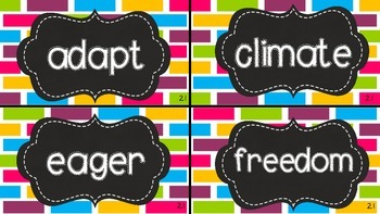 2nd Grade Reading Wonders Vocabulary Words Unit 2