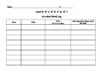 2nd Grade Reading Log Teaching Resources Teachers Pay Teachers
