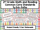 2nd Grade Reading and Math Common Core Standard Posters