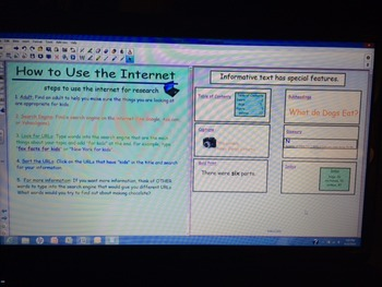 2nd Grade Reference Materials & Text Features SMARTBoard