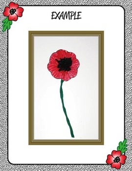 2nd Grade Remembrance Day Poppy Cross & Peace Wheel - Art & Writing