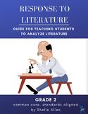 Response to Literature Grade 2 Common Core Writing lady