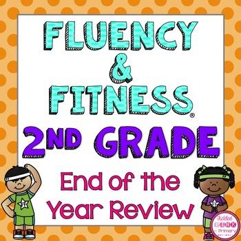 2nd Grade End of Year Review Fluency & Fitness Brain Breaks Bundle