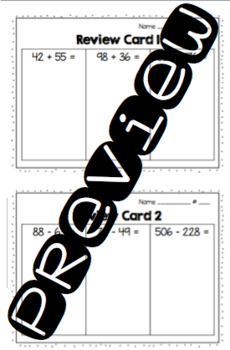 2nd Grade Review Practice Cards
