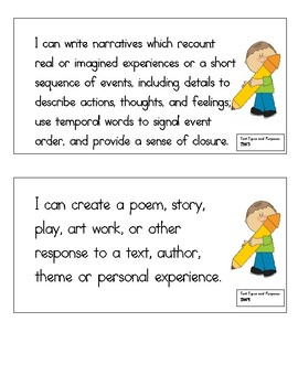 2nd Grade Revised ELA CCLS I can statements