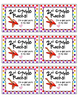 2nd Grade Rocks - FREEBIE
