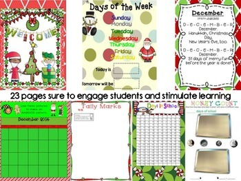 2nd Grade SMARTBoard Calendar ***Common Core Aligned*** for December