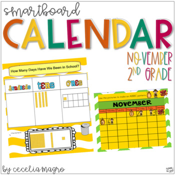 2nd Grade SMARTBoard Calendar ***Common Core Aligned*** fo