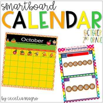 2nd Grade SMARTBoard Calendar ***Common Core Aligned*** for October