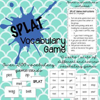 2nd Grade SPLAT Vocabulary Game - 43 weeks of games