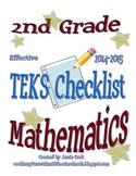 2nd Grade STAAR Math TEKS Checklist (with new TEKS effective 2014-2015)