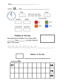 2nd Grade Saxon Math Meeting Forms