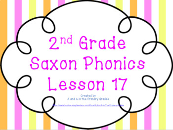 2nd Grade Saxon Phonics Lesson 17