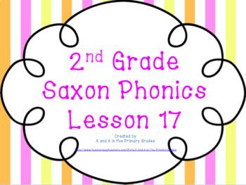 2nd Grade Saxon Phonics Lesson 17