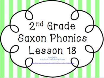 2nd Grade Saxon Phonics Lesson 18