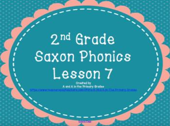 2nd Grade Saxon Phonics Lesson 7