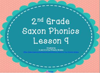 2nd Grade Saxon Phonics Lesson 9