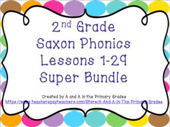 2nd Grade Saxon Phonics Lessons 1-29 SUPER Bundle
