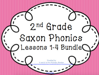 2nd Grade Saxon Phonics Lessons 1-4  Bundle