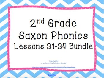 2nd Grade Saxon Phonics Lessons 31-34