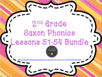 2nd Grade Saxon Phonics Lessons 51-54 Bundle